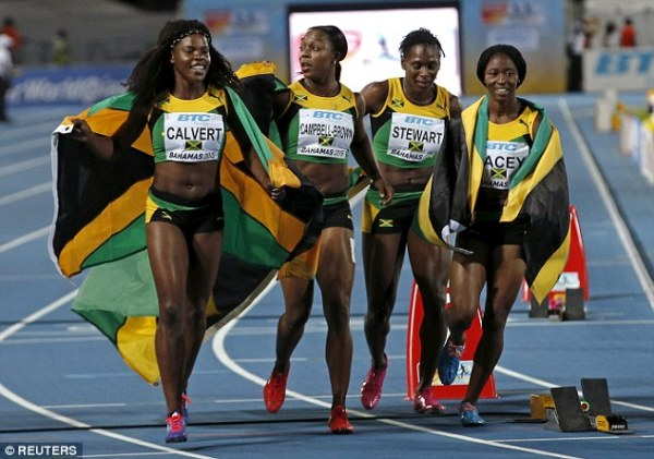 Jamaica win 4x200m relay without Usain Bolt after USA drop ...