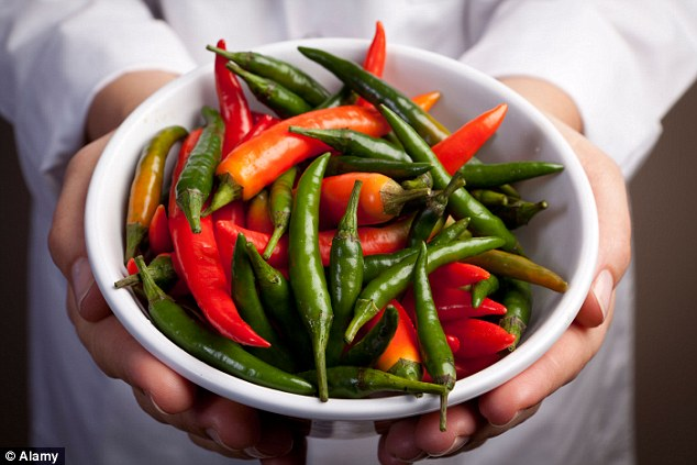Chilli helps speed up the metabolism and as such is supposed to help us burn more fat