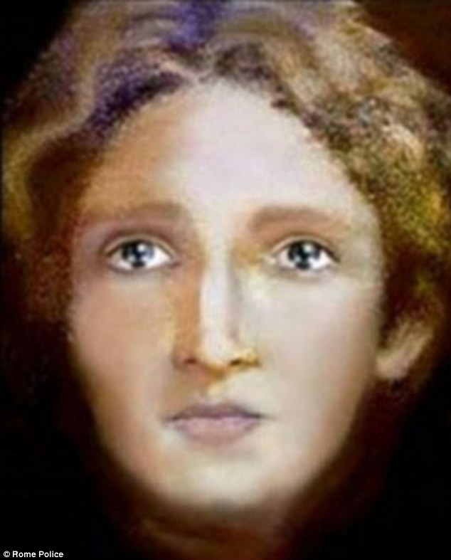 Youthful: Italian police claim this is what Jesus Christ looked like as a young boy