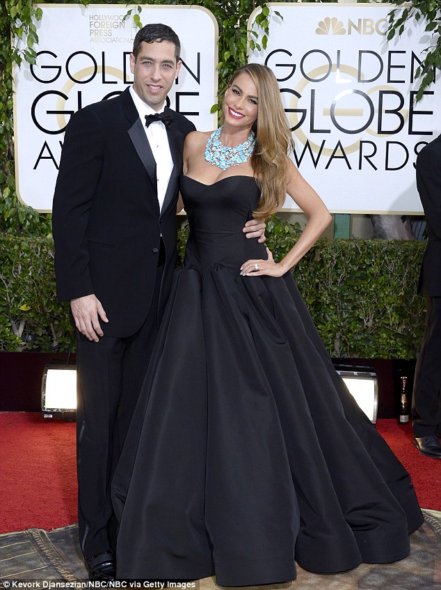 Custody war: Loeb (L) is best known for his five-year legal battle against ex-fiancé Sofia Vergara (R) over their two female frozen embryos, which has failed thus far (pictured in 2014)