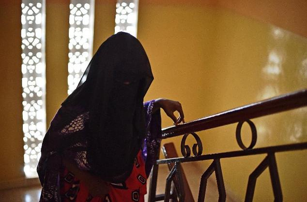 Fatima, 14, who was arrested after reporting a rape, pictured at the Elman Centre in Mogadishu