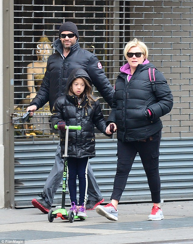 Close family: The star revealed his wife Deborra-Lee Furness, whom he married in 1996 and has two children Oscar, 14 and Ava, nine, also strongly encouraged him to seek a medical opinion