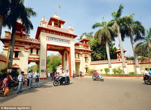 The Banaras Hindu University in Varanasi where the crime allegedly took place