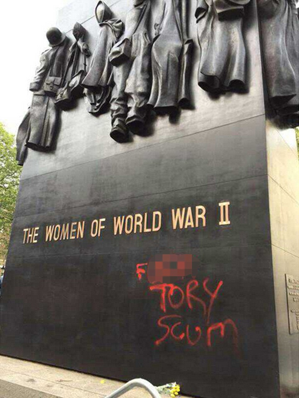 The Royal British Legion today condemned the vandalism describing it as 'a senseless act' especially during this VE Day anniversary