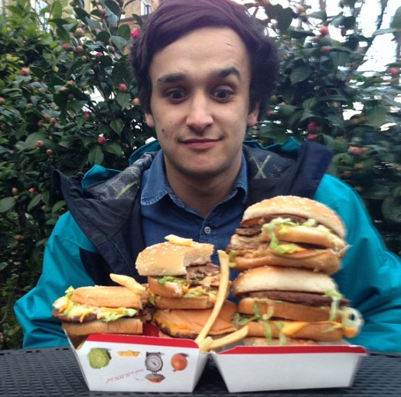 As part of the study for the book, Mr Spector's son Tom agreed to spend 10 days eating only McDonald's