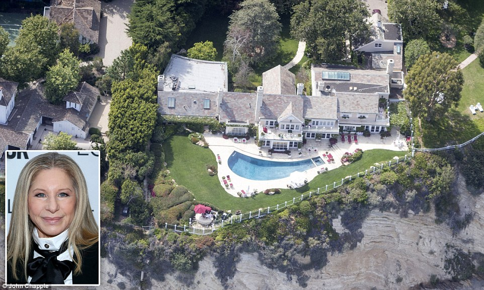 You too Babs? Despite being an advocate for energy conservation, Barbra Streisand's beach-side home in Malibu appears green as ever