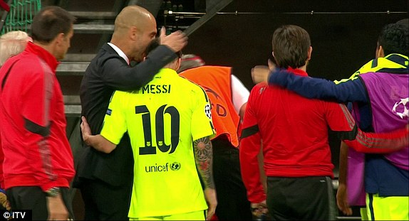 Image result for I never called Messi for Manchester City – Guardiola