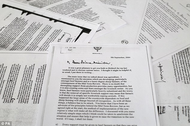 There was a decade-long battle to have Prince Charles' 'black spider' letters made public following a Freedom of Information request by the press
