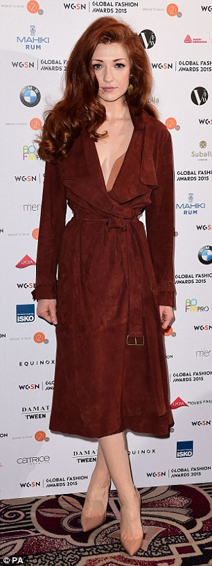 Nicola Roberts In Plunging Belted Coat As She Attends