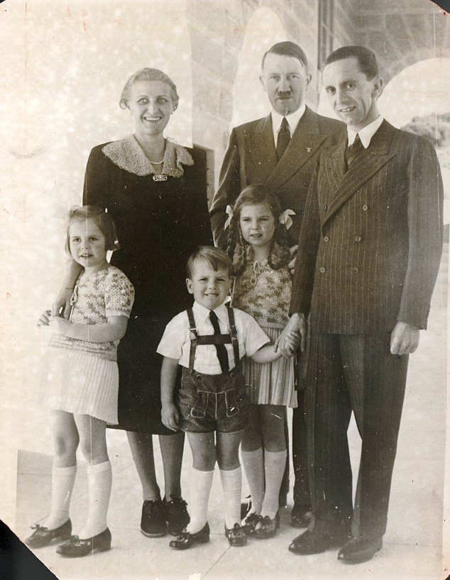 The Goebbels Family with Hitler