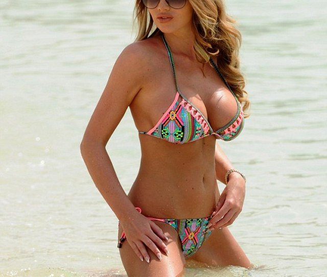 Bikini Babe Amy Childs Looked Incredible As She Flashed Her Assets In A Tribal