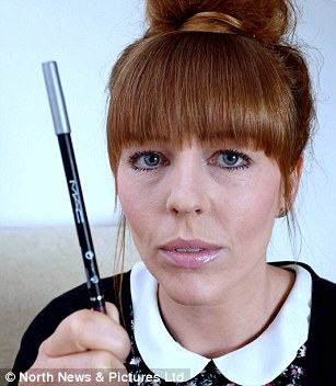 Louise Emery, pictured with the make-up