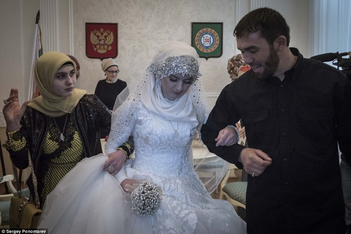 Kremlin human rights commissioner Ella Pamfilova had denounced the marriage as medieval and said she hoped that it would not take place