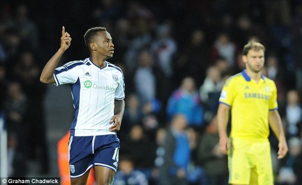 Saido Berahino won the match for West Brom, scoring two goals to see off champions Chelsea in style