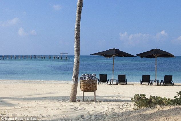 With private beaches like this, it was hard to see the point of ever leaving the sprawling resort