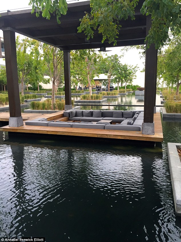 One of Nizuc's many cosy lounging spots, set in a maze of shimmering water