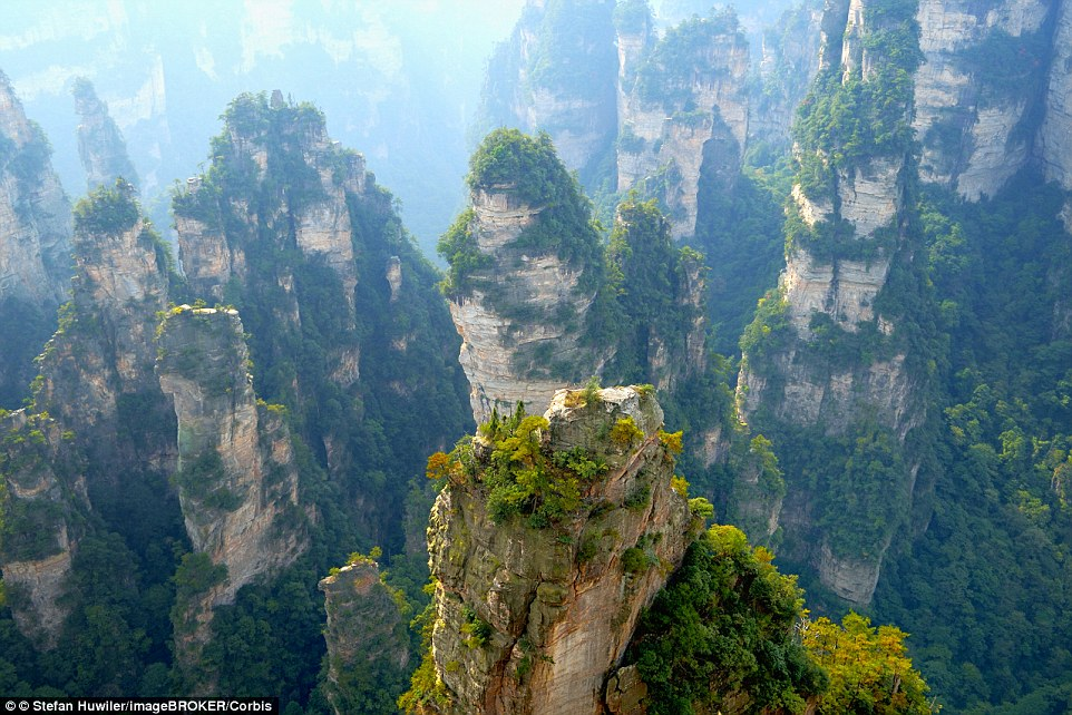 Visitors will be able to marvel at the stunning Zhangjiajie national park landscape, which boasts over 3,000 sandstone pillars, and was the inspiration for James Cameron's 2009 movie, Avatar