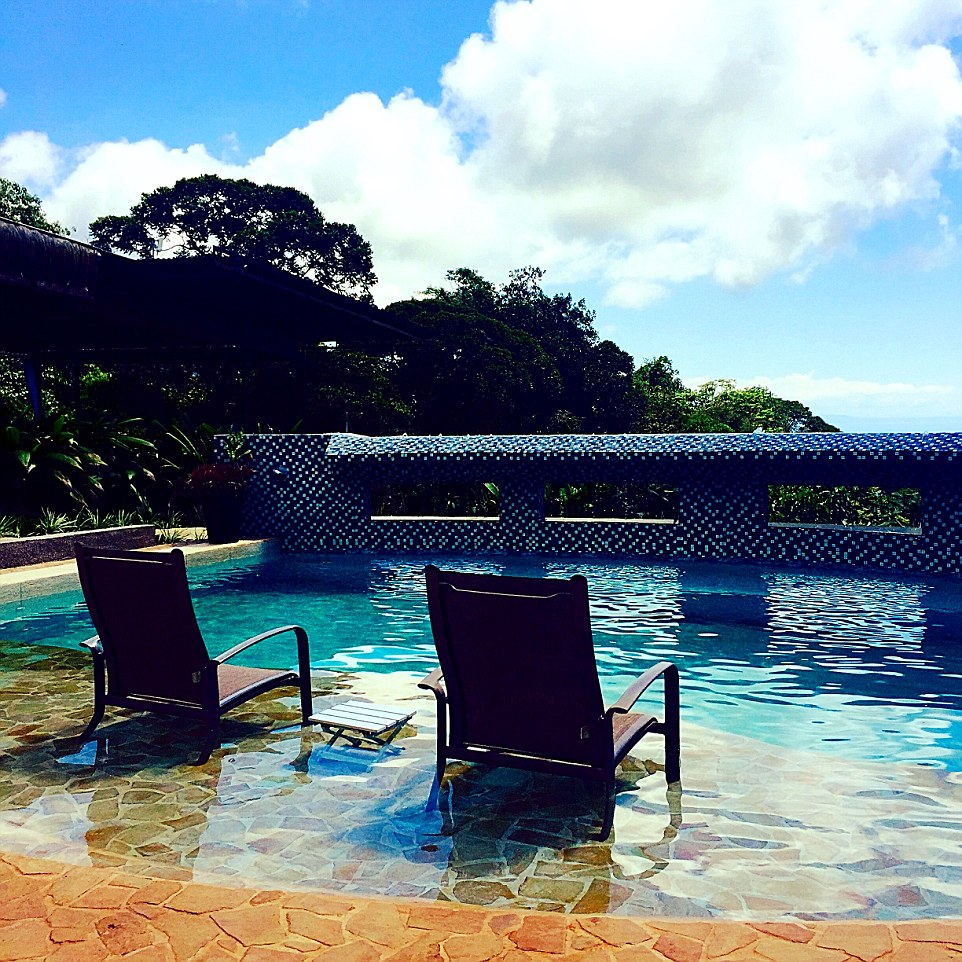 Rancho Pacifico is a small, exceptionally beautiful resort run by an ex-supermodel and frequented by stars from around the world, where the small pool overlooks Costa Rica's Whales Tail beach