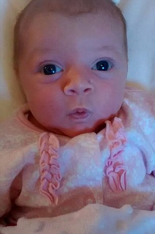 Had Ms Brooke waited for her due date, her month-old daughter Chloe would have died