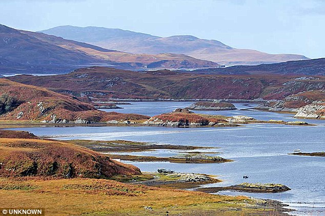 20,000 acres: The Astors' Tarbert estate on the Herbrides island of Jura in Scotland where David Cameron has shot stag