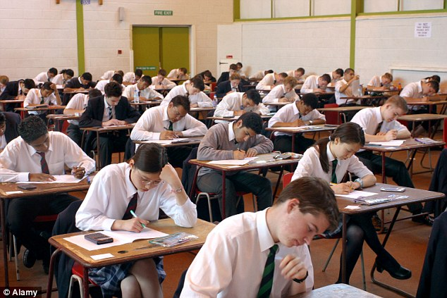 Schools are abandoning traditional GCSEs in favour of alternative international courses like the IGCSEs, amid fears from headteachers that the current British exams system is too volatile (stock image)