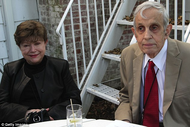 John Nash and wife Alicia Nash, pictured in 2012: The pair have been killed in a taxi crash in New Jersey