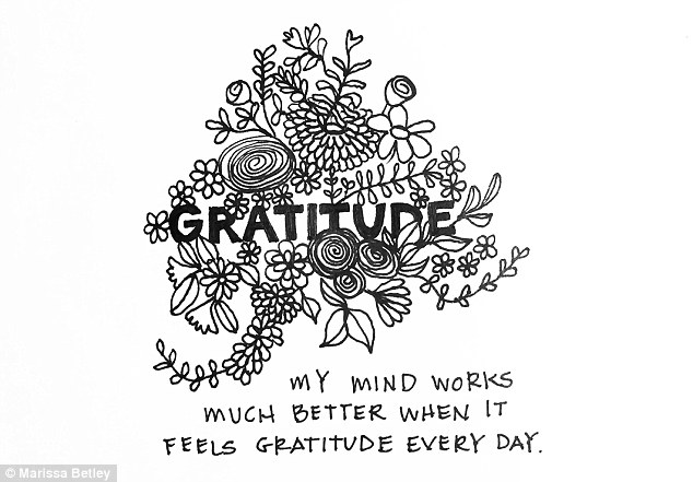Be grateful: Another person shared with Marissa that it is important to feel gratitude