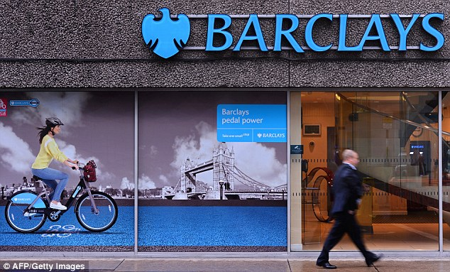 Barclays is one of the UK banks that have been dragged into the Fifa bribery and corruption scandal engulfing footbll's world governing body (file picture)