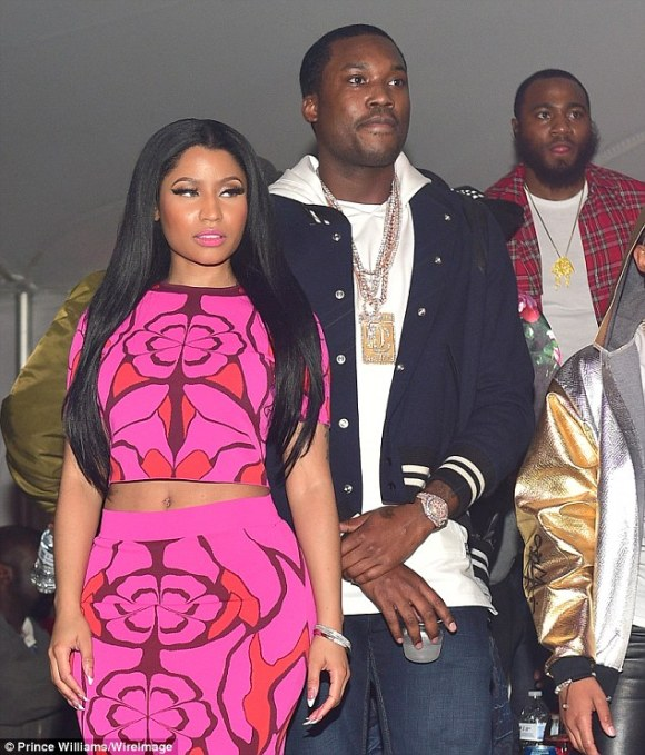 Mixing business and pleasure: The Philadelphia rapper is also serving as 'special guest' during the North American leg of Minaj's Pinkprint World Tour (pictured February 28)