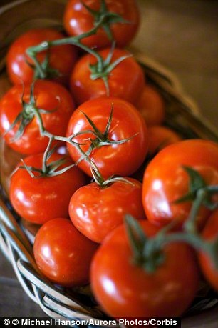 Tomatoes contain the antioxidant lycopene which protects sperm against damage