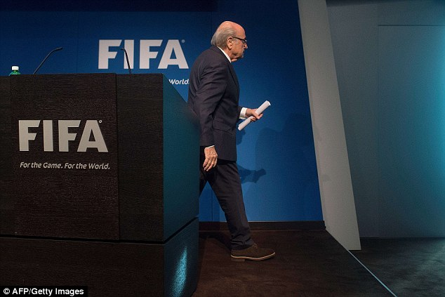 Blatter made the announcement at a hastily organised press conference this afternoon, saying he had made the decision after considering what was best for football