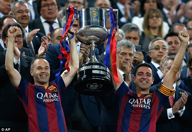 The former Spain international helped Barcelona secure the Copa del Rey trophy last Saturday