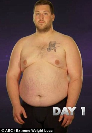 400lb firefighter sheds 150lbs on ABC's Extreme Weight ...