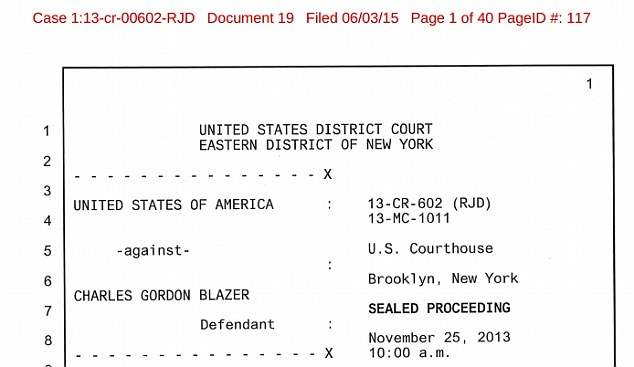 Blazer, who is currently lying ill in a New York hospital, revealed the information on November 25, 2013