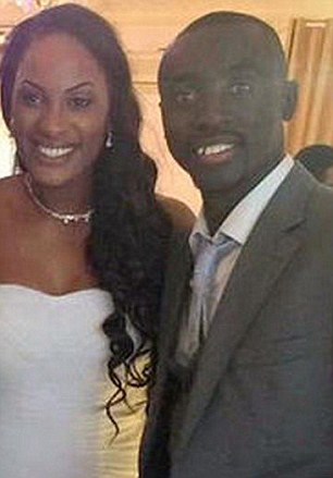 Happy couple: Cisse married the sportswoman at a yacht club in Paris and are believed to be in Senegal