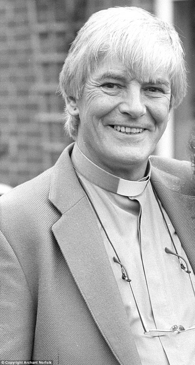 Friend of the family: The Reverend James Cameron, pictured in 1991, would often pop in to see Ms Dorries' parents, and was such a powerful figure in the community she felt she was unable to speak out