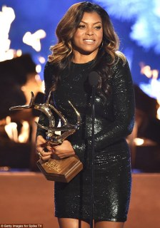 Woman of the hour: Not only did Taraji P. Henson co-host the show, but she also took home the Jean-Claude Gahd Dam Award