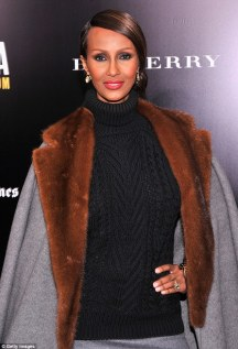 Young genes? Model Iman is well-known for her youthful looks as scientists suggest this could be down to her gene pool
