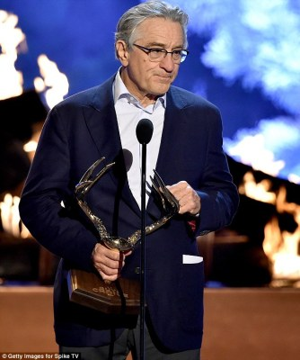 No longer a Raging Bull: Legendary actor Robert De Niro presented The Best Ever award