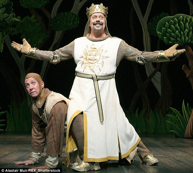 Stage legend: Between 2004 and 2007 he played King Arthur in the Monty Python musical Spamalot on stage in Chicago, Broadway and the West End