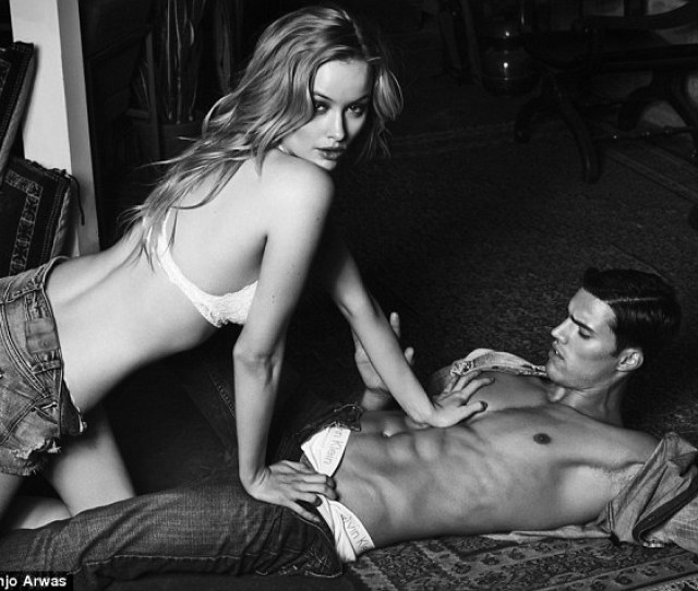 Simone Holtznagel Climbs Atop A Shirtless Male Model In American