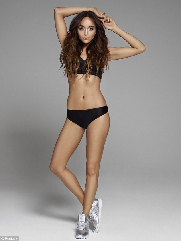 Ashley showed off her incredible figure in a selection of workout wear as she posed for the new campaign