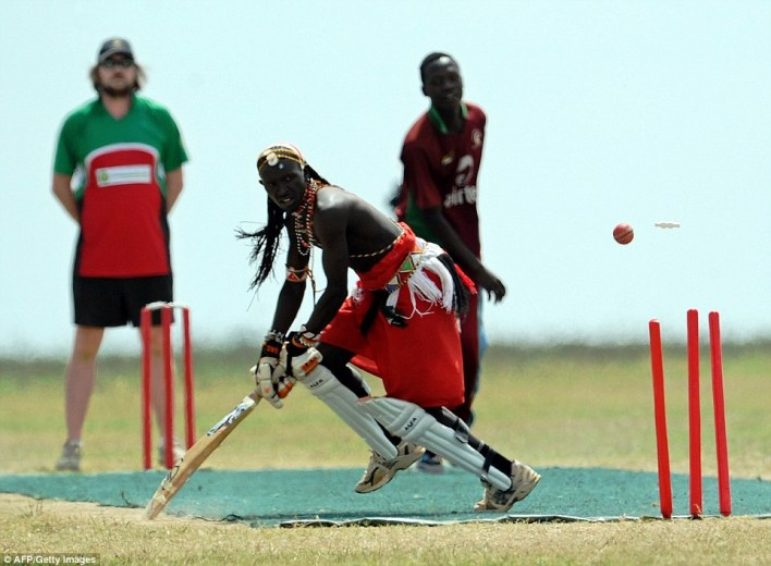 Wicket: The group organise cricket safaris into Laikipia, where teams can play the sport in a nature reserve while being watched by wildlife