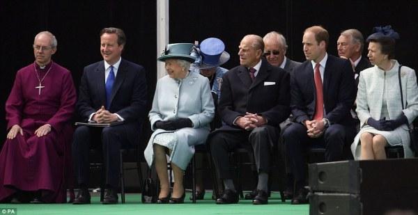 Queen, Prince Philip, William and David Cameron Mark ...