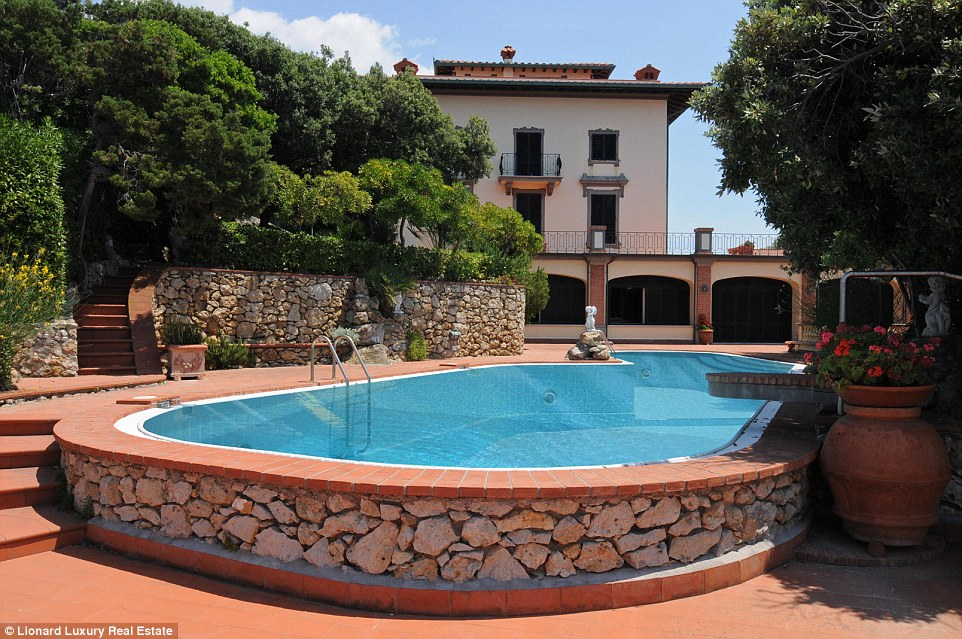 The sweet life could be yours for more than £7million at the former residence of famous Italian actor Alberto Sordi