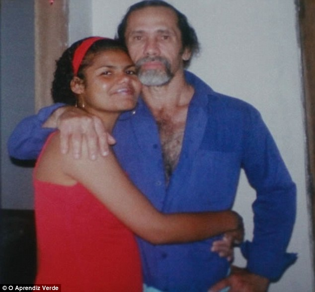Wicked love: Bruna da Silva was 16 when Negromonte took her as his mistress after his wife Isabel was unable to get pregnant. Negromonte blames Bruna for manipulating him into murdering his victims