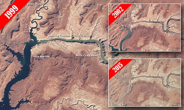 Nasa Reveals Lake Powells Transformation Over 15 Years Of
