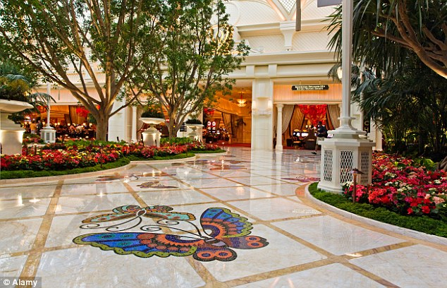 The Wynn Hotel is full of art, bringing the outside inside