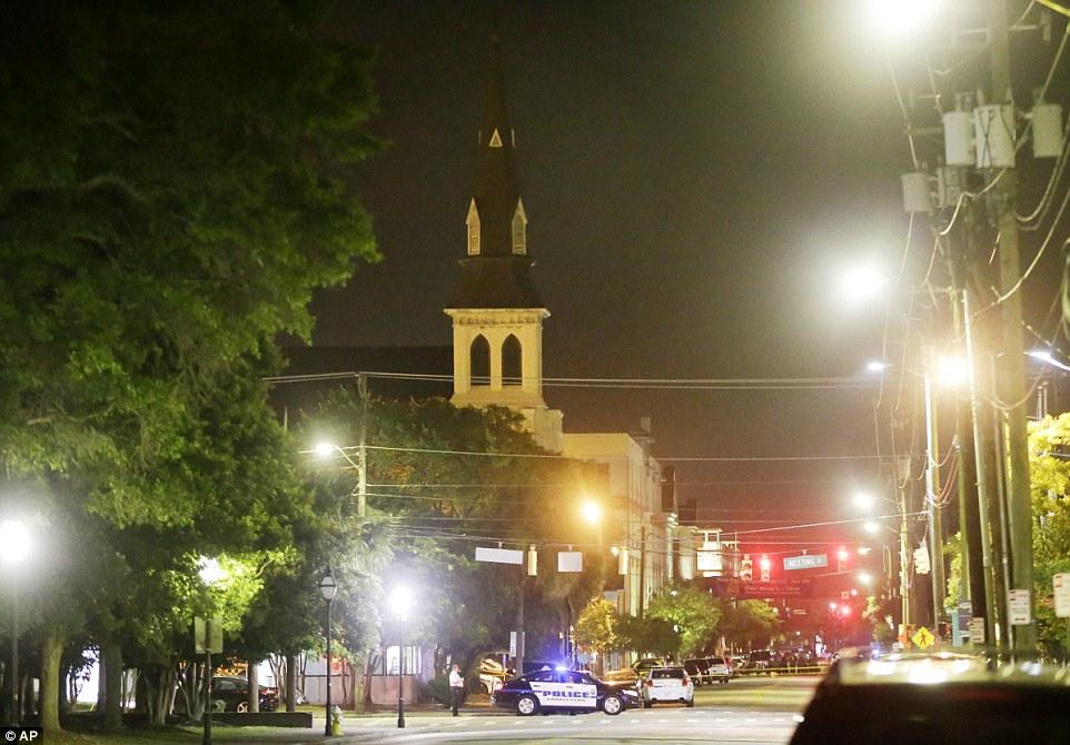 Scene: The gunfire broke out atthe 150-year-old Emanuel African Methodist Episcopal Church in Charleston on Wednesday night