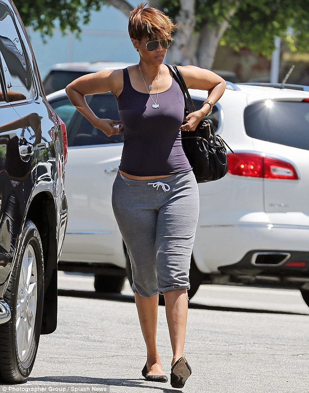 Ditching the glam: Tyra Banks dressed down as she made a gas station run in West Hollywood, California on Saturday